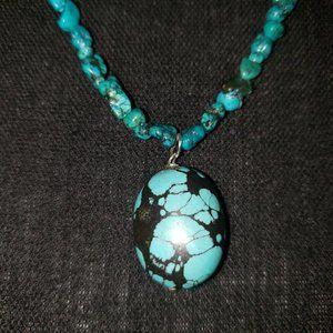 Genuine turquoise nuggets/Nevada turquoise pendant